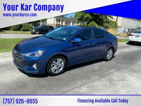 2020 Hyundai Elantra for sale at Your Kar Company in Norfolk VA