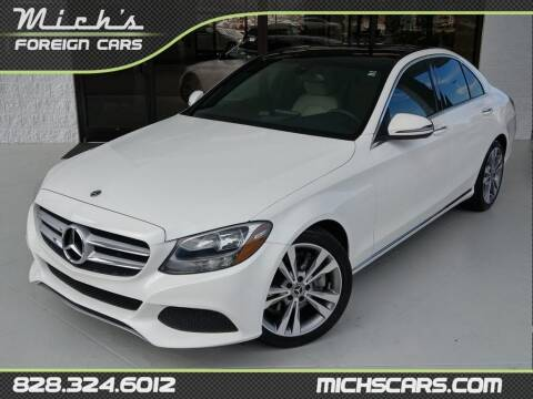 2018 Mercedes-Benz C-Class for sale at Mich's Foreign Cars in Hickory NC