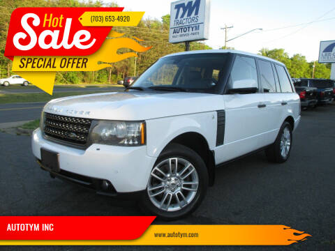 2011 Land Rover Range Rover for sale at AUTOTYM INC in Fredericksburg VA