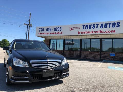 2013 Mercedes-Benz C-Class for sale at Trust Autos, LLC in Decatur GA