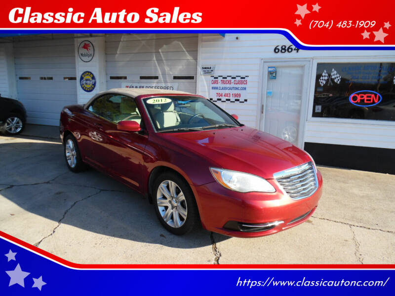 2012 Chrysler 200 Convertible for sale at Classic Auto Sales in Maiden NC