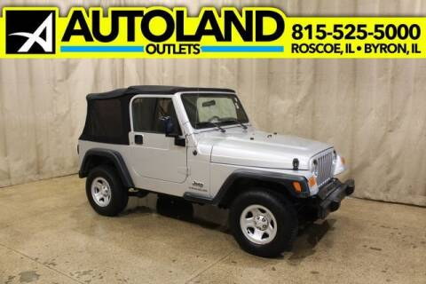 2006 Jeep Wrangler for sale at AutoLand Outlets Inc in Roscoe IL