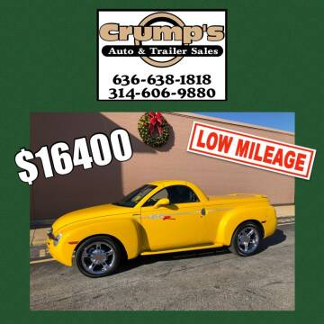 2004 Chevrolet SSR for sale at CRUMP'S AUTO & TRAILER SALES in Crystal City MO