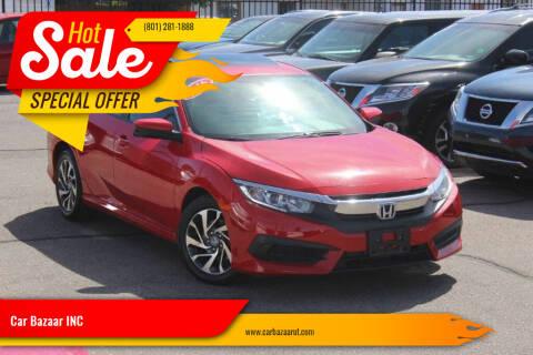 2016 Honda Civic for sale at Car Bazaar INC in Salt Lake City UT