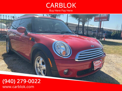 2010 MINI Cooper Clubman for sale at CARBLOK in Lewisville TX