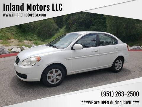 2008 Hyundai Accent for sale at Inland Motors LLC in Riverside CA