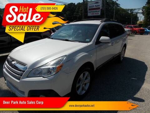 2014 Subaru Outback for sale at Deer Park Auto Sales Corp in Newport News VA