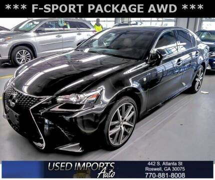 2018 Lexus GS 350 for sale at Used Imports Auto in Roswell GA