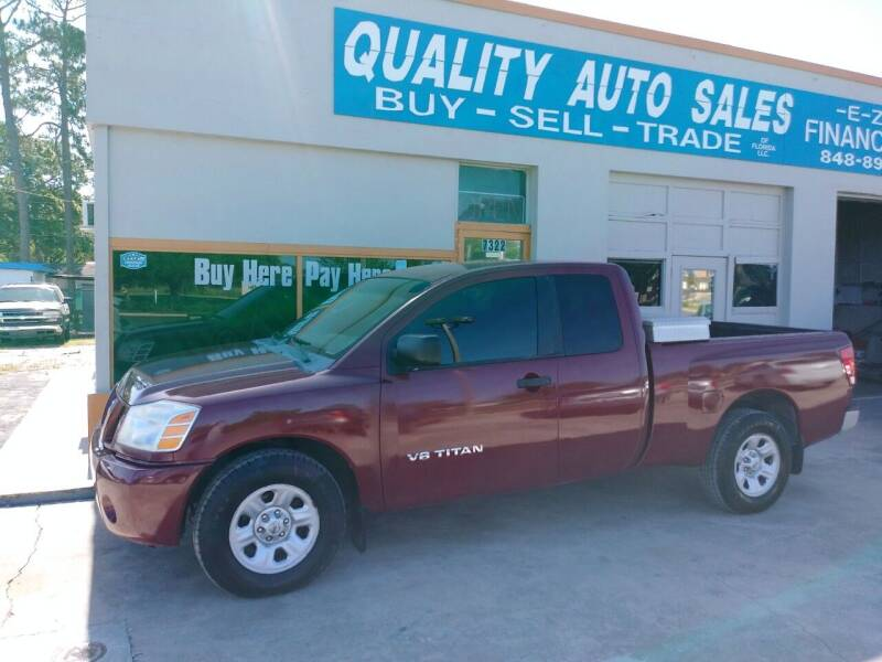 2007 Nissan Titan for sale at QUALITY AUTO SALES OF FLORIDA in New Port Richey FL