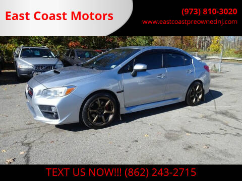 2015 Subaru WRX for sale at East Coast Motors in Lake Hopatcong NJ