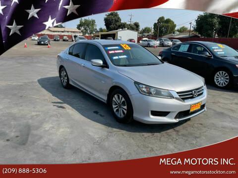 2013 Honda Accord for sale at Mega Motors Inc. in Stockton CA