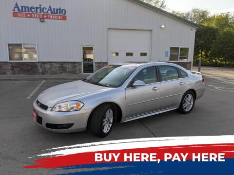 2012 Chevrolet Impala for sale at AmericAuto in Des Moines IA