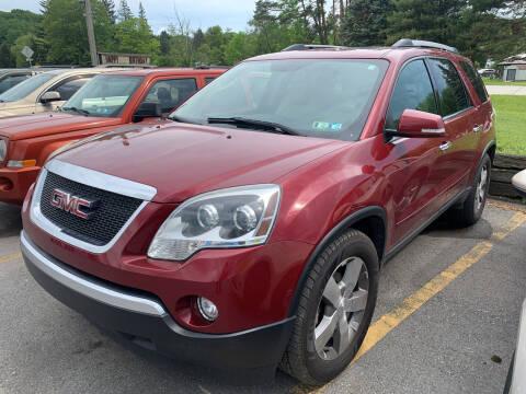 2011 GMC Acadia for sale at BURNWORTH AUTO INC in Windber PA