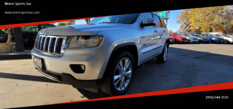 2011 Jeep Grand Cherokee for sale at Motor Sports Sac in Sacramento CA