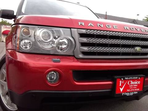 2008 Land Rover Range Rover Sport for sale at 1st Choice Auto Sales in Fairfax VA