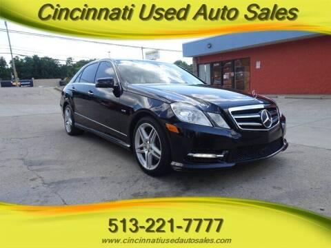 2012 Mercedes-Benz E-Class for sale at Cincinnati Used Auto Sales in Cincinnati OH