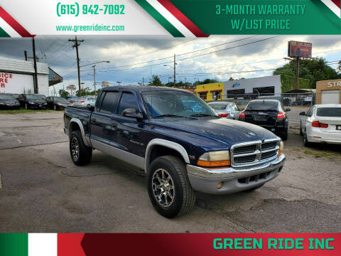 2000 Dodge Dakota for sale at Green Ride Inc in Nashville TN