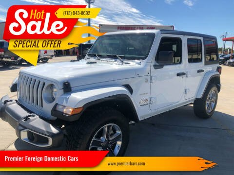 2019 Jeep Wrangler Unlimited for sale at Premier Foreign Domestic Cars in Houston TX