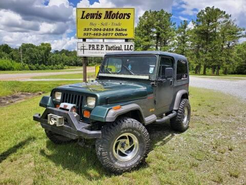 1995 Jeep Wrangler for sale at Lewis Motors LLC in Deridder LA