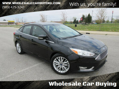 2015 Ford Focus for sale at Wholesale Car Buying in Saginaw MI