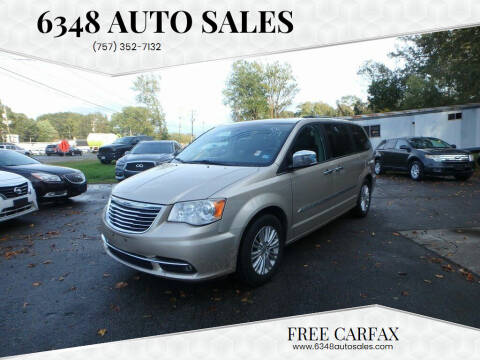 2013 Chrysler Town and Country for sale at 6348 Auto Sales in Chesapeake VA