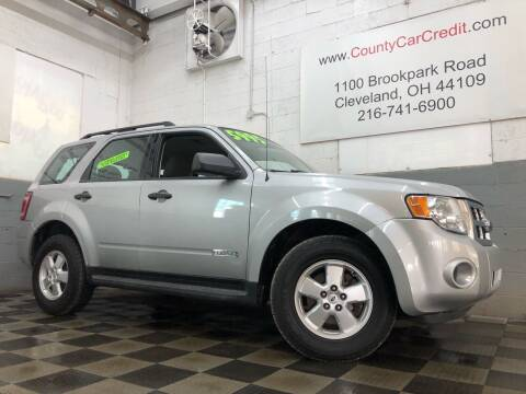 2008 Ford Escape for sale at County Car Credit in Cleveland OH