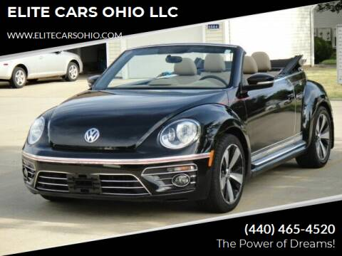 2013 Volkswagen Beetle Convertible for sale at ELITE CARS OHIO LLC in Solon OH