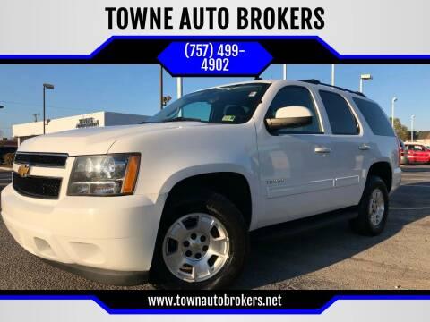 2013 Chevrolet Tahoe for sale at TOWNE AUTO BROKERS in Virginia Beach VA