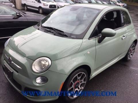 2015 FIAT 500 for sale at J & M Automotive in Naugatuck CT
