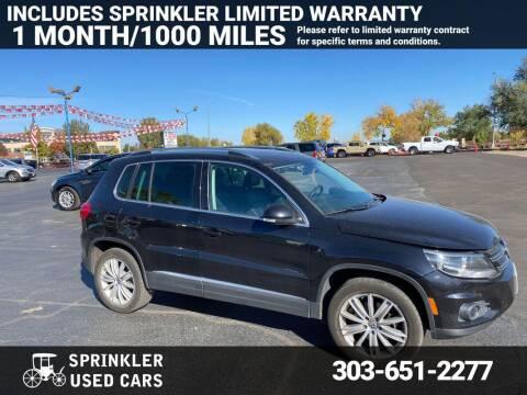 2012 Volkswagen Tiguan for sale at Sprinkler Used Cars in Longmont CO