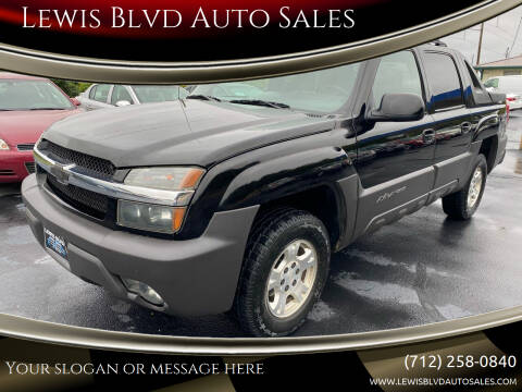 2003 Chevrolet Avalanche for sale at Lewis Blvd Auto Sales in Sioux City IA