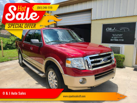 2014 Ford Expedition EL for sale at O & J Auto Sales in Royal Palm Beach FL