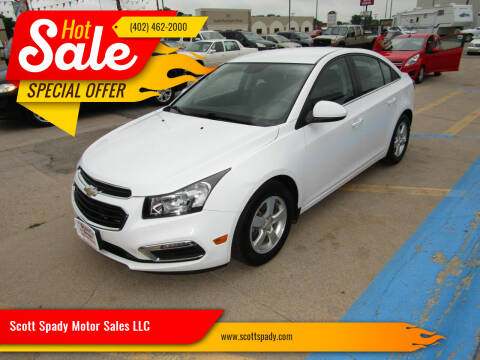 2015 Chevrolet Cruze for sale at Scott Spady Motor Sales LLC in Hastings NE