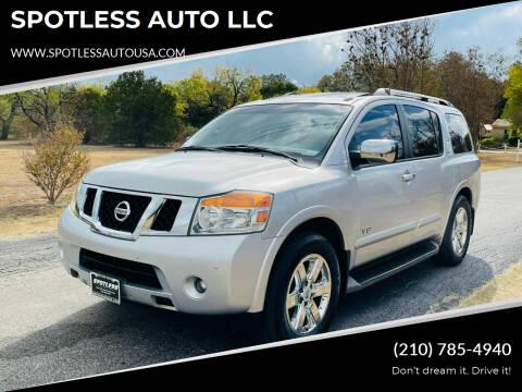 2008 Nissan Armada for sale at SPOTLESS AUTO LLC in San Antonio TX