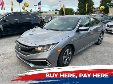 2019 Honda Civic for sale at D & P OF MIAMI CORP in Miami FL