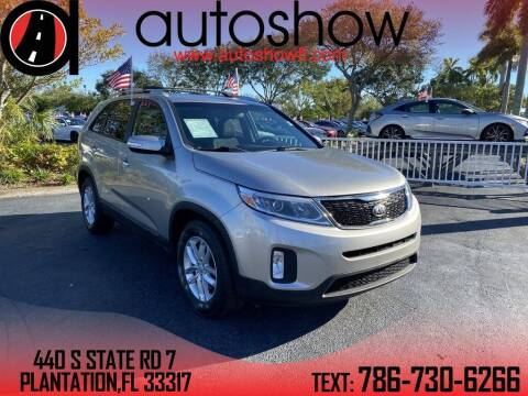 2014 Kia Sorento for sale at AUTOSHOW SALES & SERVICE in Plantation FL
