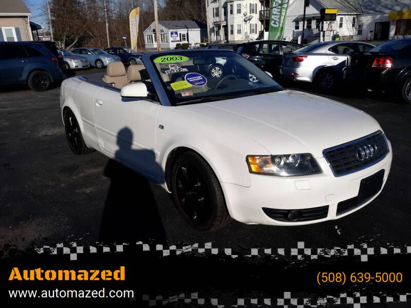2003 Audi A4 for sale at Automazed in Attleboro MA