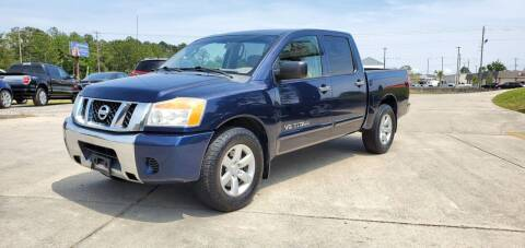 2010 Nissan Titan for sale at WHOLESALE AUTO GROUP in Mobile AL