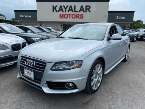 2012 Audi A4 for sale at KAYALAR MOTORS in Houston TX