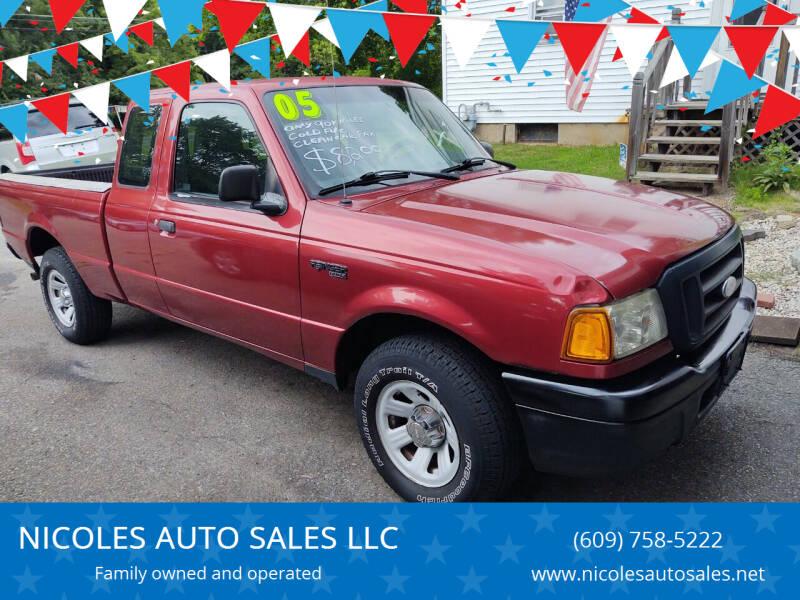 2005 Ford Ranger for sale at NICOLES AUTO SALES LLC in Cream Ridge NJ