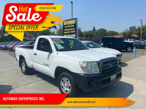 2009 Toyota Tacoma for sale at AUTOMAX ENTERPRISES INC. in Roseville CA