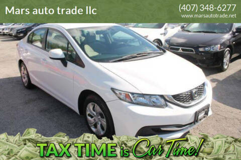 2013 Honda Civic for sale at Mars auto trade llc in Kissimmee FL