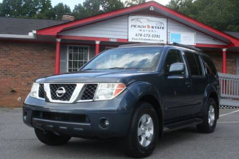 2005 Nissan Pathfinder for sale at Peach State Motors Inc in Acworth GA