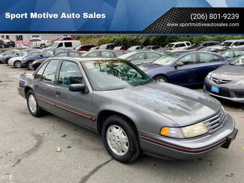 1993 Chevrolet Lumina for sale at Sport Motive Auto Sales in Seattle WA