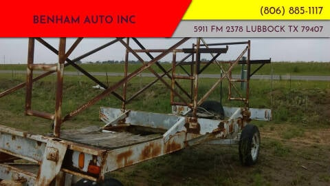 SCAFFOLD TRAILER for sale at BENHAM AUTO INC - Benham Auto Trailers in Lubbock TX