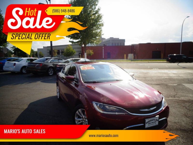 2016 Chrysler 200 for sale at MARIO'S AUTO SALES in Mount Clemens MI