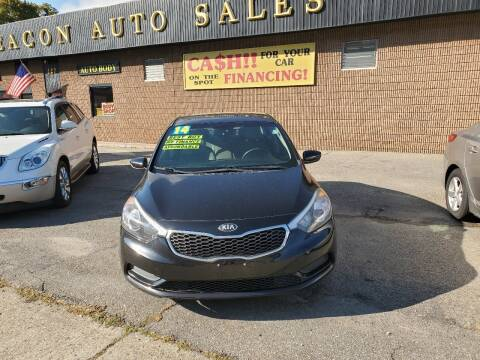 2014 Kia Forte for sale at Beacon Auto Sales Inc in Worcester MA