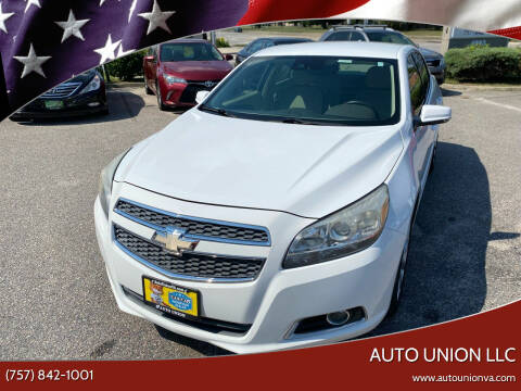 2013 Chevrolet Malibu for sale at Auto Union LLC in Virginia Beach VA