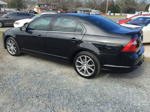 2012 Ford Fusion for sale at LAURINBURG AUTO SALES in Laurinburg NC