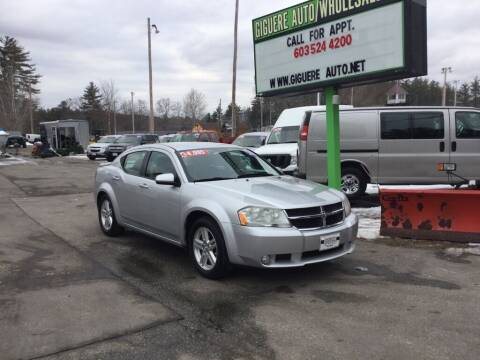 2010 Dodge Avenger for sale at Giguere Auto Wholesalers in Tilton NH